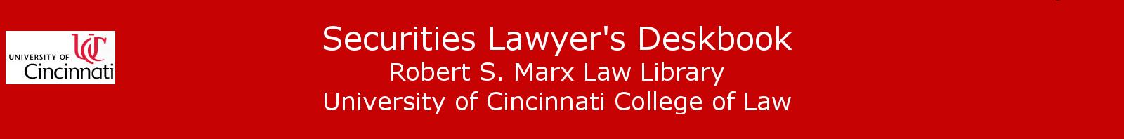 Securities Lawyer's Deskbook